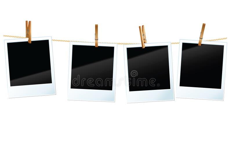 Spazii in bianco della foto illustrazione di stock