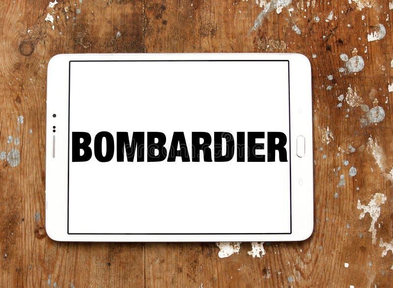 Spazio aereo del bombardiere e logo della società di trasporto immagini stock libere da diritti