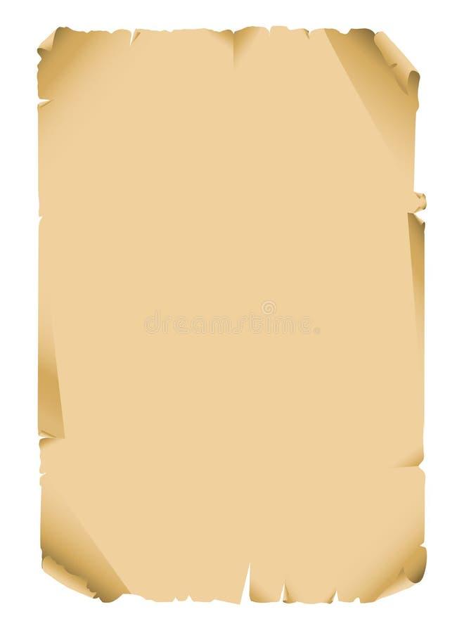 Spazio in bianco antico del documento del rotolo illustrazione vettoriale