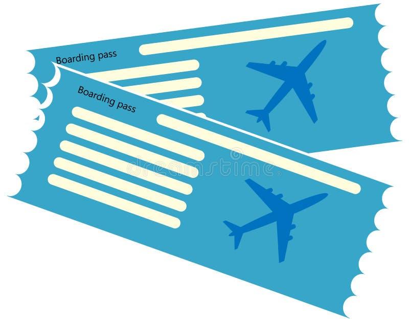 Spazio in bianco blu del biglietto aereo illustrazione vettoriale