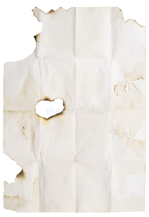 Spazio in bianco bruciato del bordo fotografie stock libere da diritti