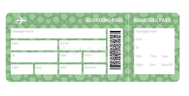 Spazio in bianco del biglietto di aeroplano illustrazione vettoriale