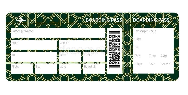 Spazio in bianco del biglietto di aeroplano illustrazione di stock