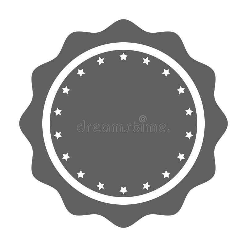 Spazio in bianco del bollo con l'icona grafica delle stelle illustrazione di stock