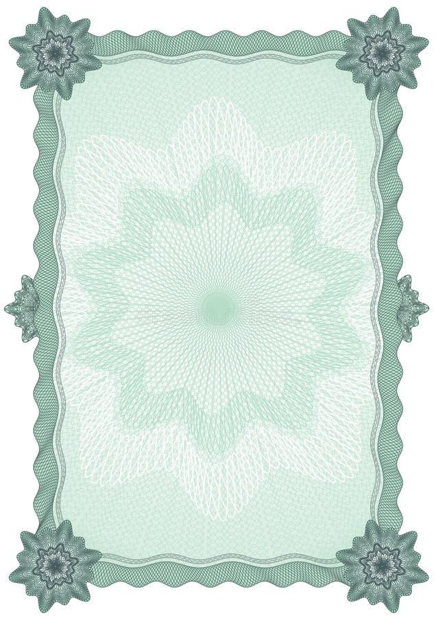 Spazio in bianco del certificato illustrazione vettoriale