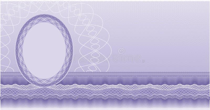 Spazio in bianco del certificato royalty illustrazione gratis