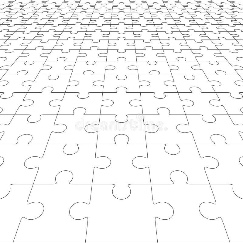 Spazio in bianco del puzzle nella prospettiva Illustrazione di vettore royalty illustrazione gratis