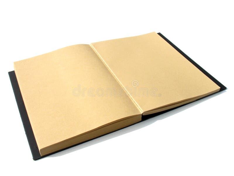Spazio in bianco del taccuino della carta di Brown fotografia stock libera da diritti