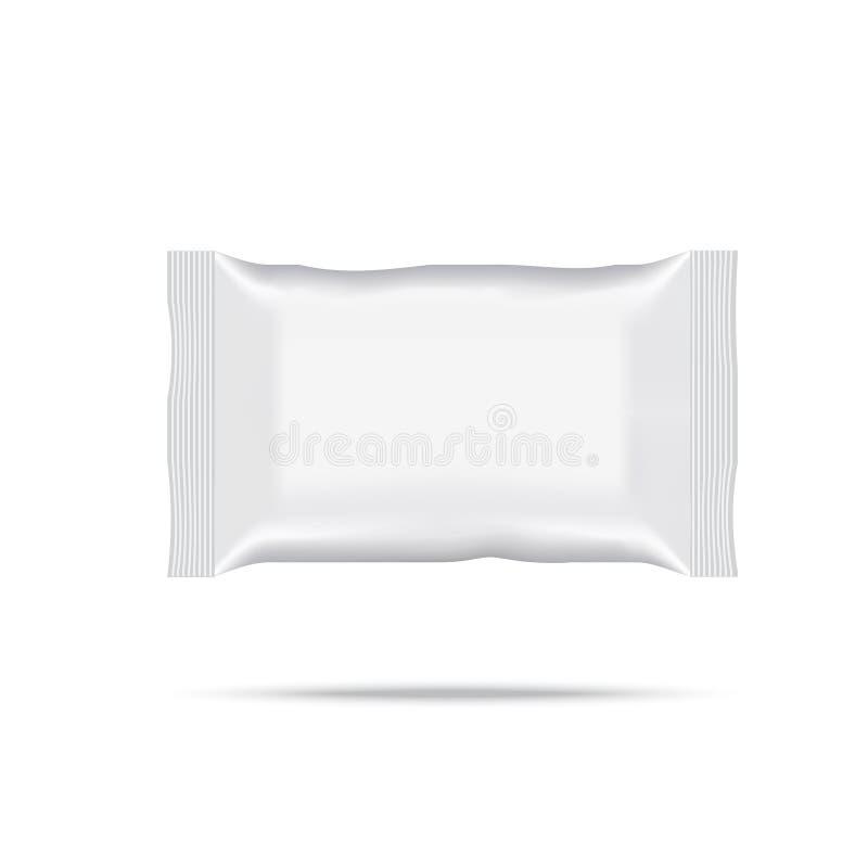 Spazio in bianco dell'imballaggio bagnato di flusso della strofinata Vettore illustrazione vettoriale