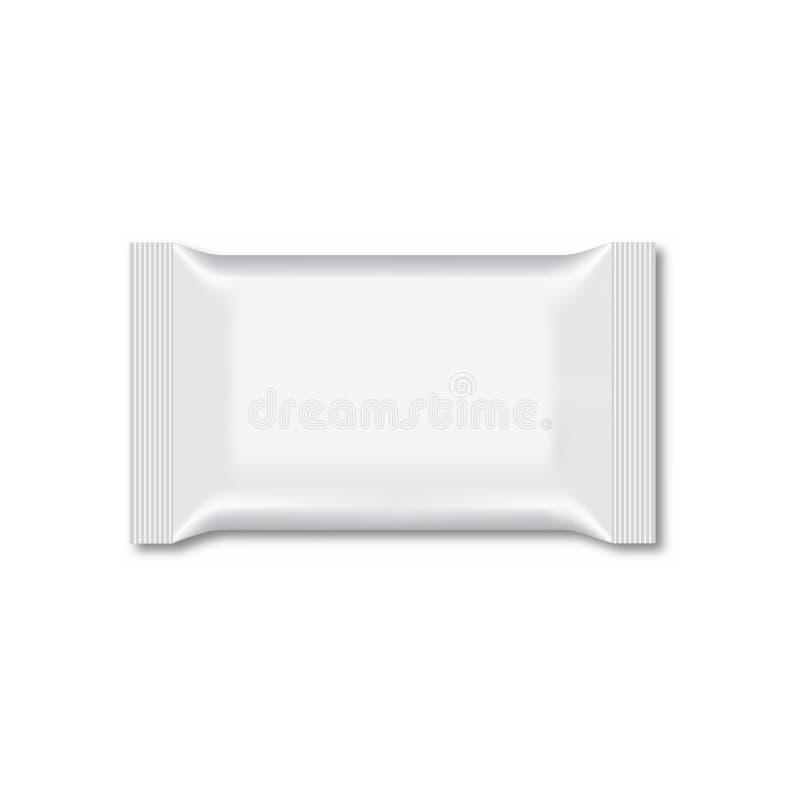 Spazio in bianco dell'imballaggio bagnato di flusso della strofinata Vettore royalty illustrazione gratis
