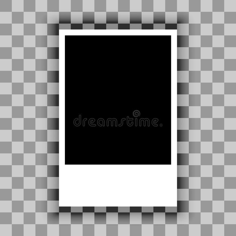 Spazio in bianco dello strato di carta su fondo trasparente Vettore illustrazione vettoriale
