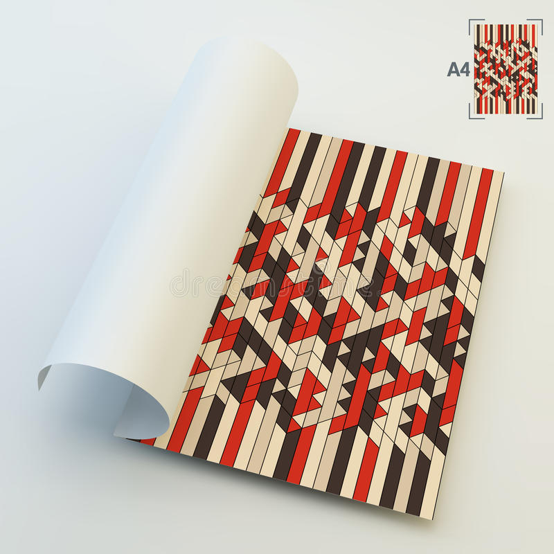 Download Spazio In Bianco Di Affari A4 Geometrico Astratto Illustrazione Vettoriale - Illustrazione di commercio, geometrico: 56884326