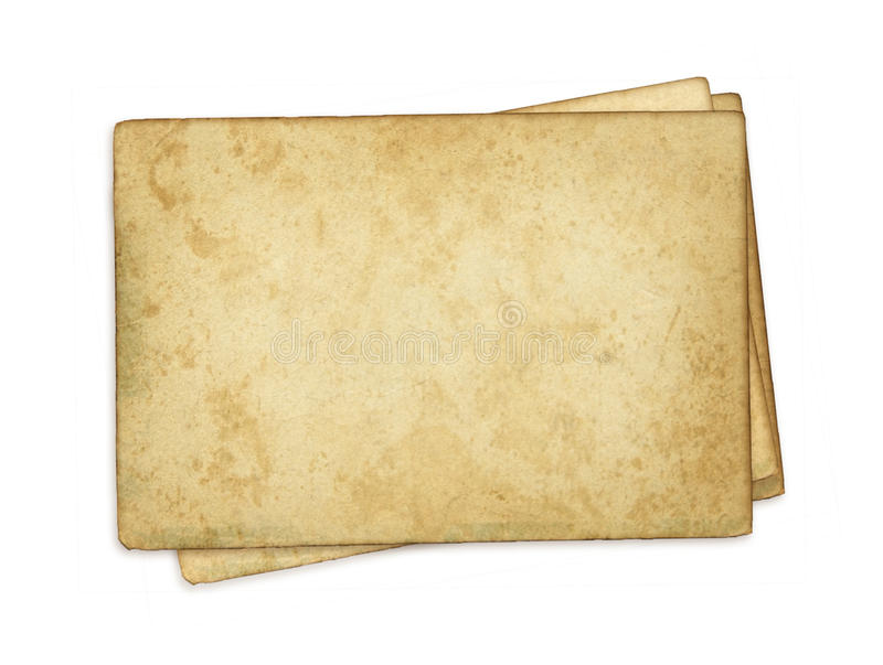 spazio in bianco di carta dell'annata immagini stock libere da diritti