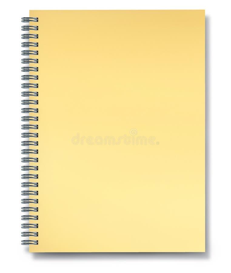 Spazio in bianco di carta giallo del taccuino royalty illustrazione gratis