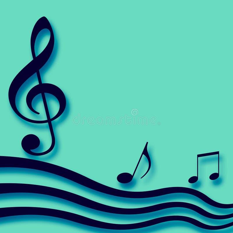 Spazio in bianco di carta musicale illustrazione vettoriale