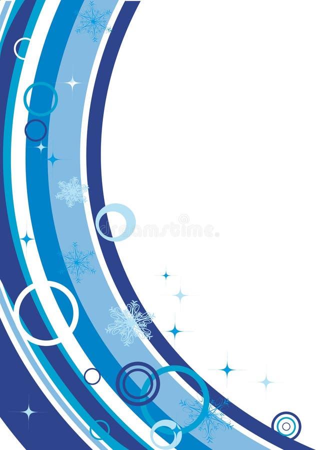 Download Spazio In Bianco Di Inverno Con I Fiocchi Di Neve Illustrazione di Stock - Illustrazione di lettera, telaio: 7300349