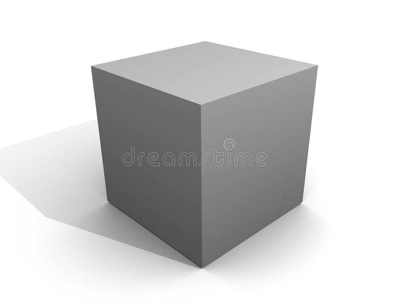 Spazio in bianco di plastica della scatola della casella del metallo grigio grigio del modello royalty illustrazione gratis