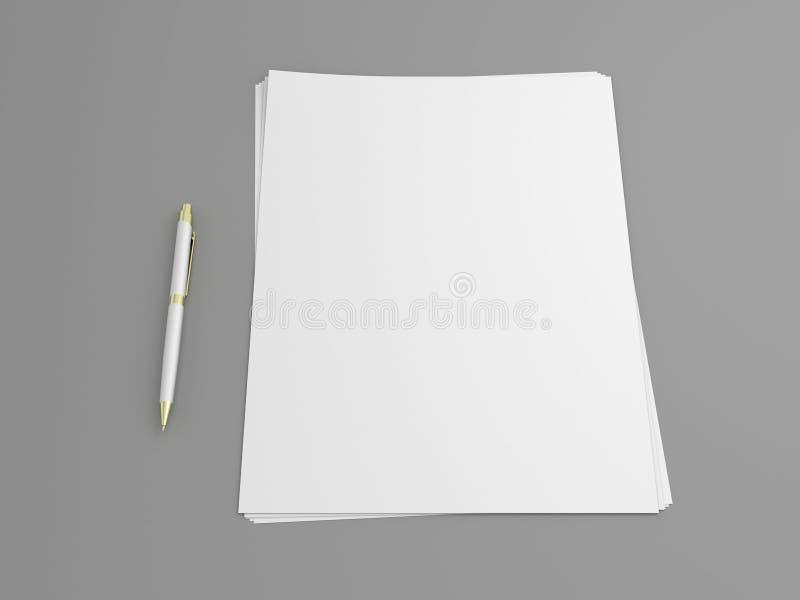 Spazio in bianco e penna fotografie stock