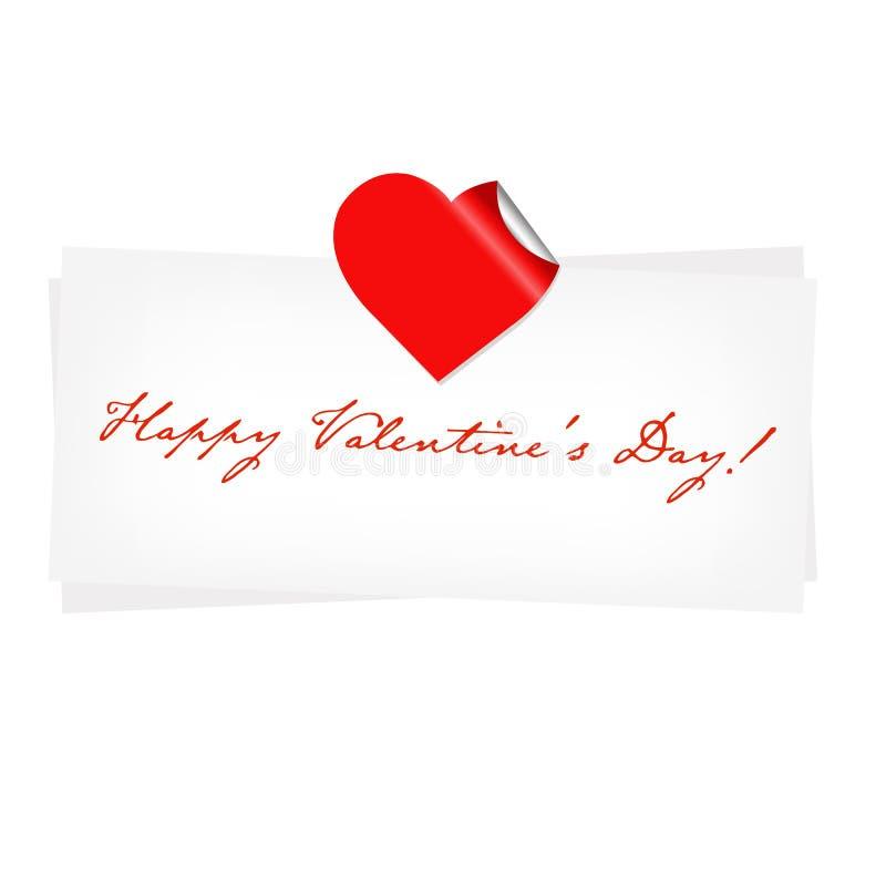 Spazio in bianco felice di giorno di biglietti di S. Valentino illustrazione vettoriale