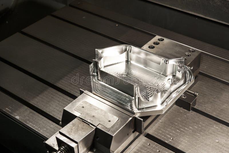 Spazio in bianco industriale della forma metallica. Tecnologia di CNC. immagini stock libere da diritti