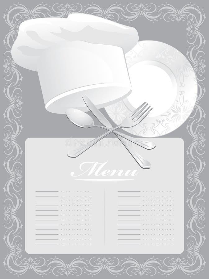 Spazio in bianco per la scheda del menu royalty illustrazione gratis