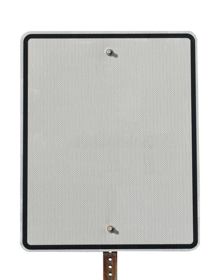 Spazio in bianco reale del segno di via per la copia fotografie stock