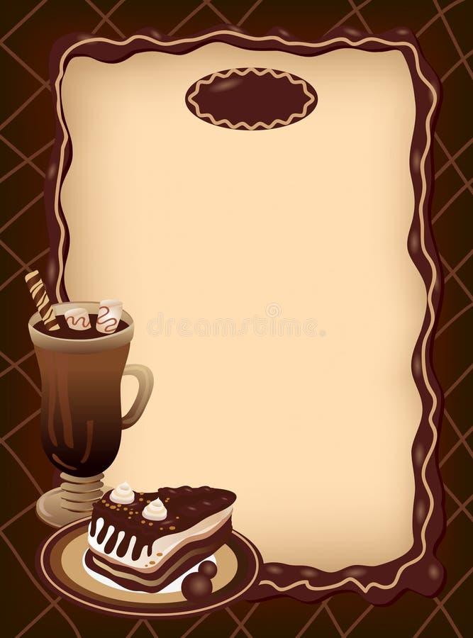 Spazio in bianco vuoto del menu royalty illustrazione gratis