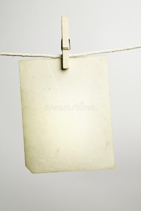 Spazio in bianco vuoto dell'annata immagine stock libera da diritti