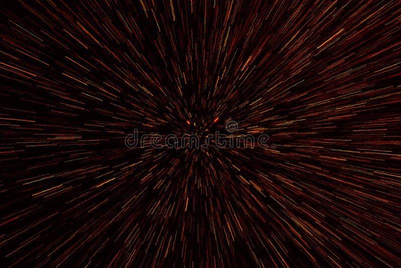 Spazio cosmico astratto della fantascienza e fondo di concetto di viaggio di tempo Fondo astratto del bokeh Stile di zumata di ef fotografia stock libera da diritti