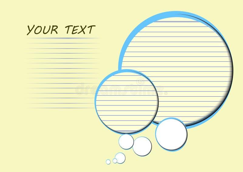 Download Spazio Del Cerchio E Della Carta Di Carta Per Testo Illustrazione Vettoriale - Illustrazione di concetto, fiori: 56878974