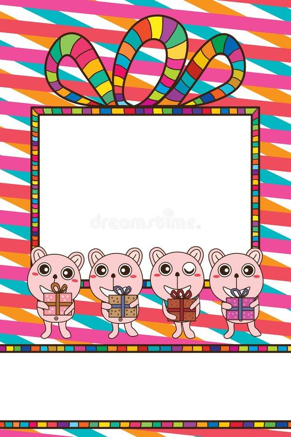 Spazio della carta di regalo dell'orso illustrazione vettoriale