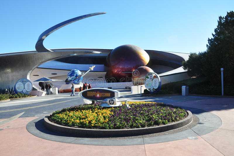 Spazio di missione in Disney Epcot immagini stock