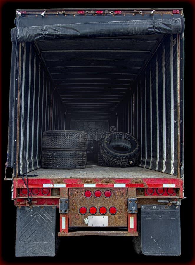 Spazio di mostra interno del carico del camion fotografia stock libera da diritti