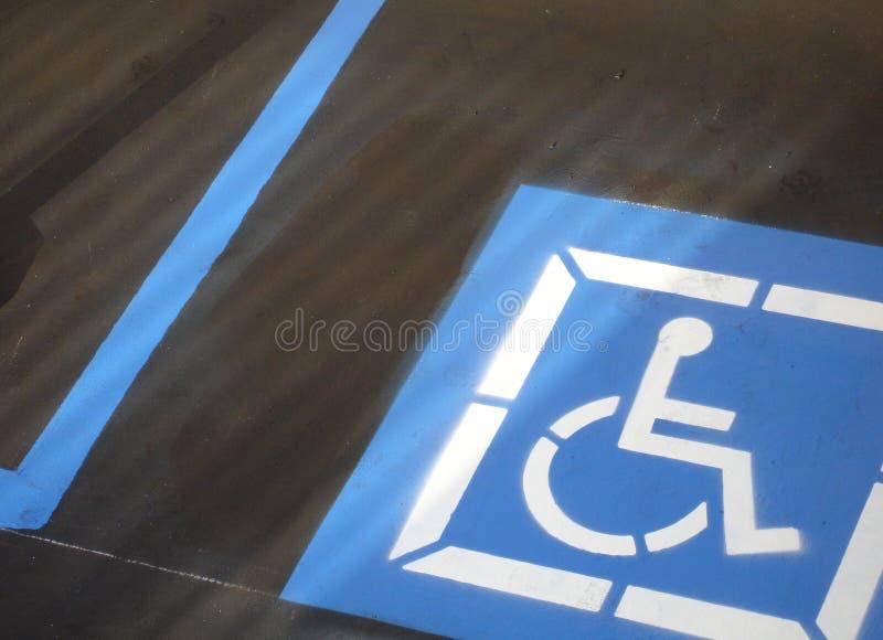 Spazio di parcheggio di handicap fotografia stock