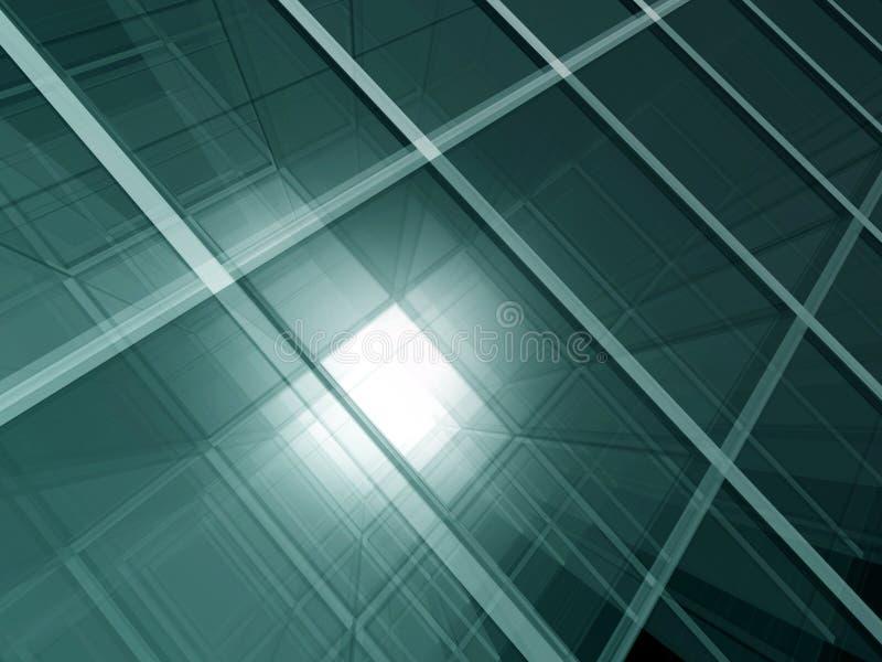 Spazio di vetro verde illustrazione di stock