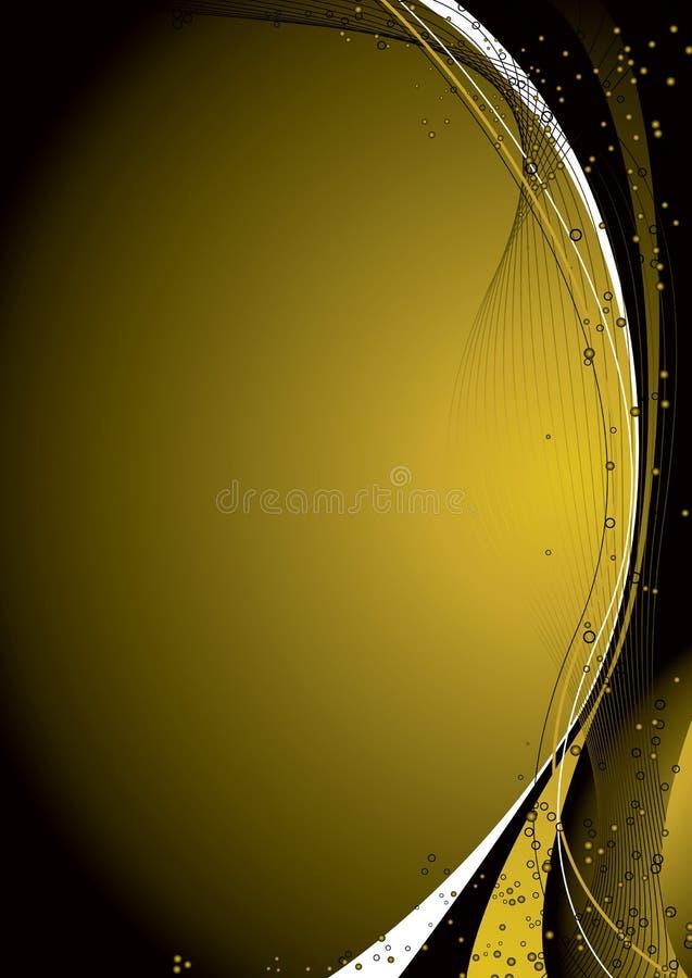 Spazio dorato illustrazione vettoriale