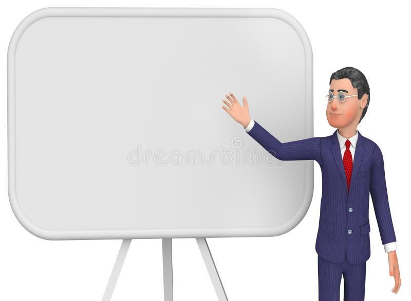Spazio e bordo di Presenting Indicates Blank dell'uomo d'affari royalty illustrazione gratis