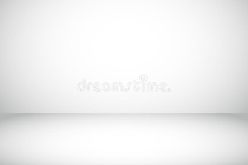 Spazio grigio della copia del fondo dello studio di pendenza facendo uso come di fondo o della carta da parati pulito semplice illustrazione di stock
