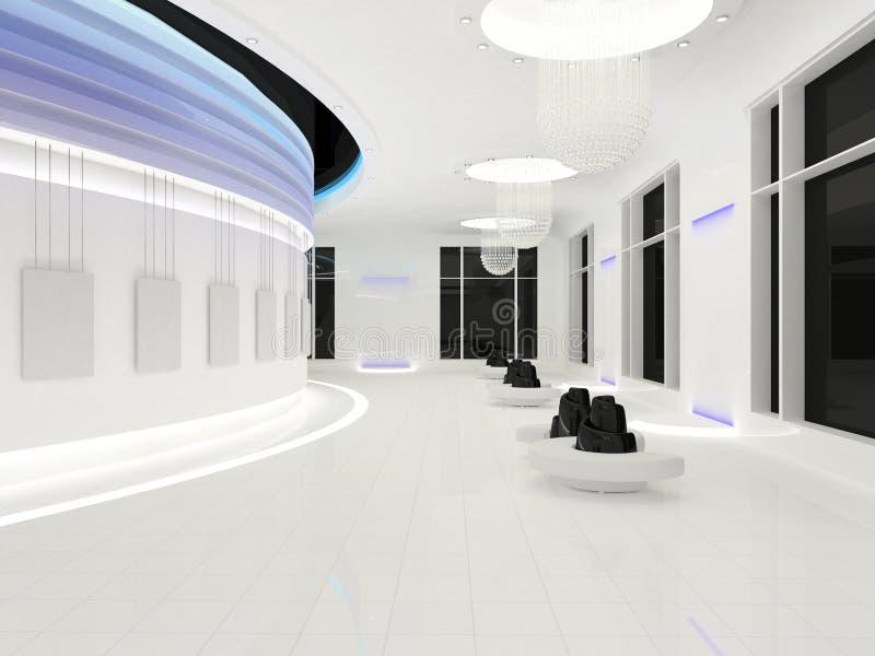 Spazio interno moderno con i blocchi per grafici vuoti royalty illustrazione gratis
