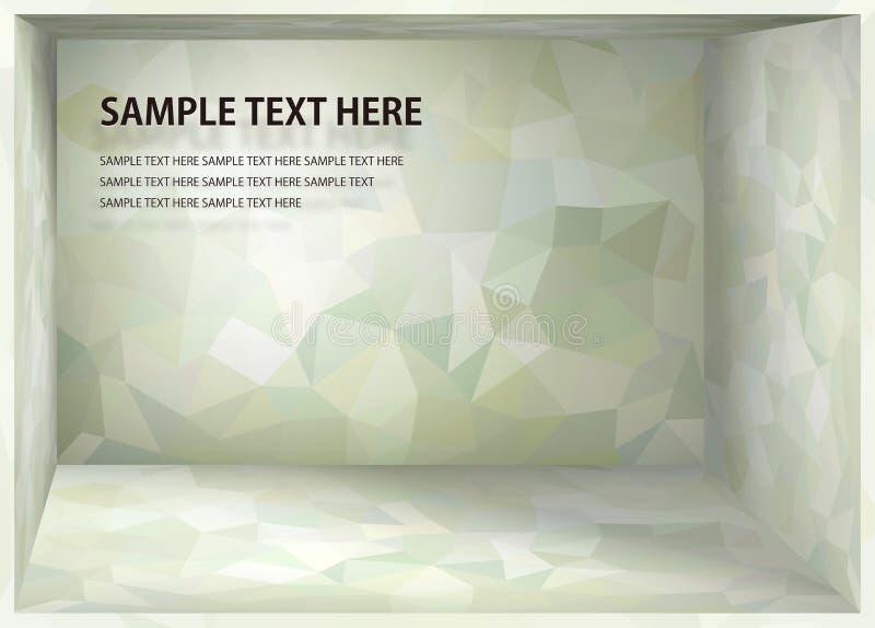 Spazio luminoso di profondità di verde della menta del fondo di cubismo illustrazione vettoriale