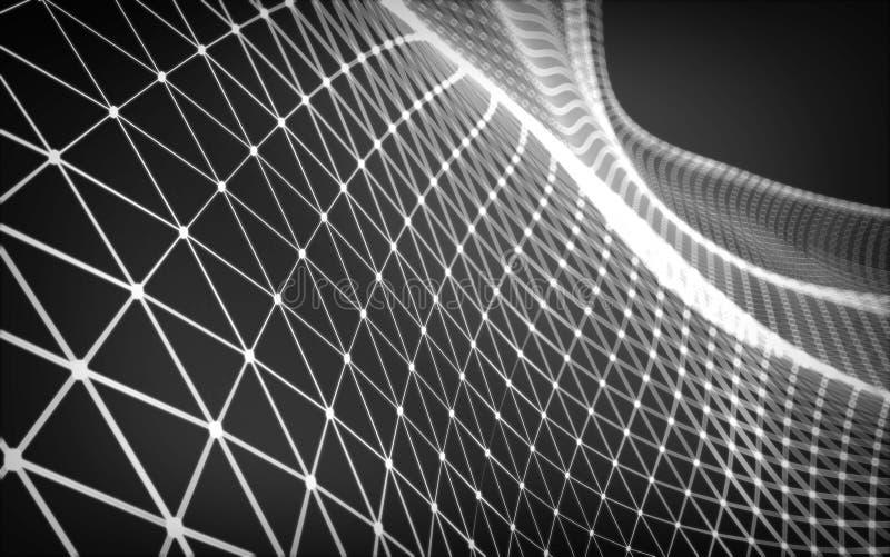 Spazio poligonale astratto in basso poli immagine stock