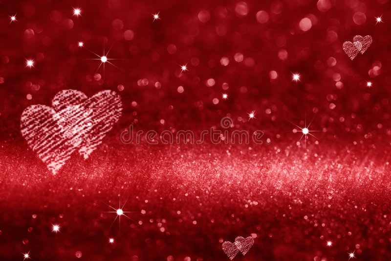 Spazio rosso del cuore per amore immagini stock
