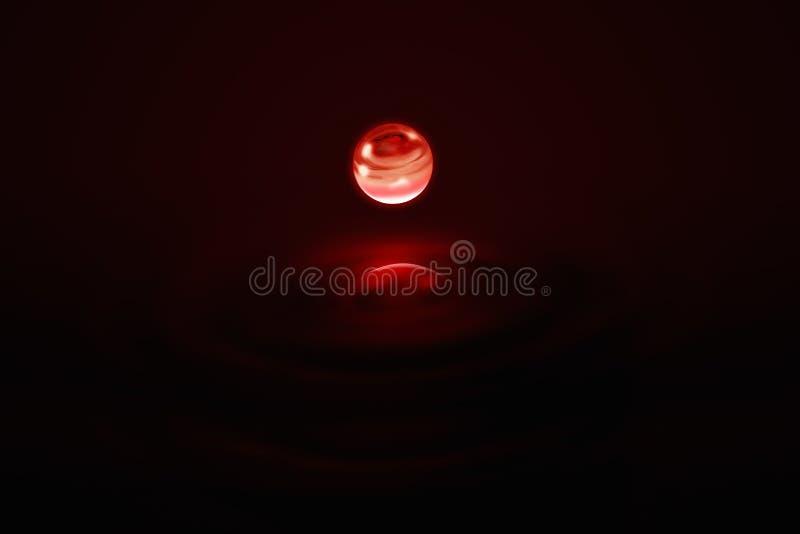 Spazio universale dell'universo di scienza del pianeta rosso immagine stock libera da diritti