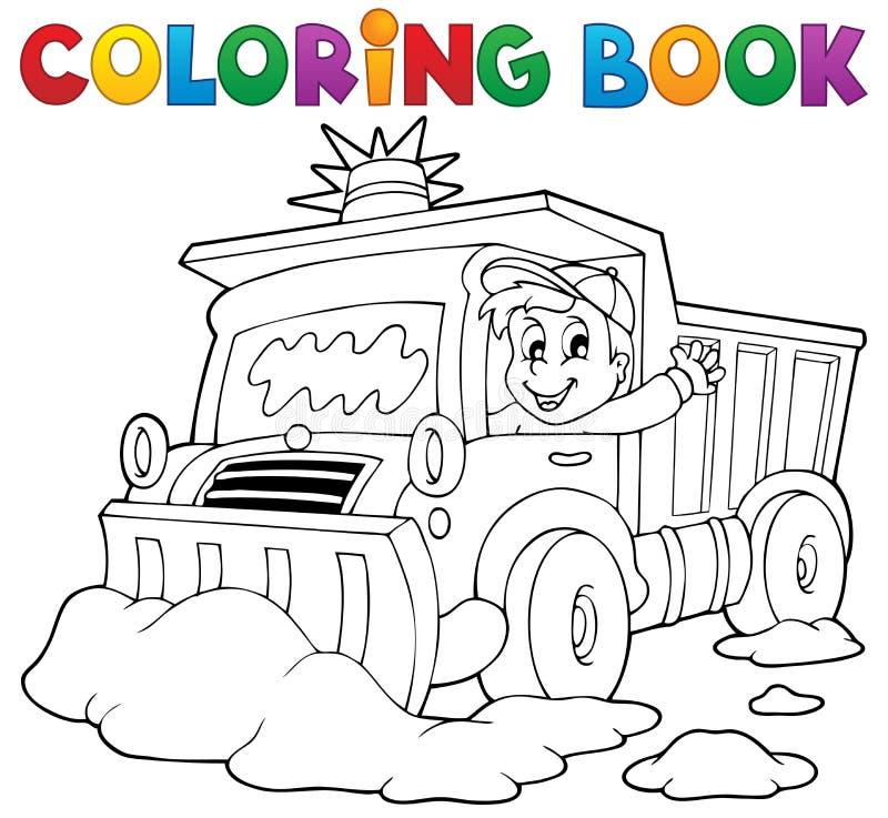 Spazzaneve del libro da colorare royalty illustrazione gratis
