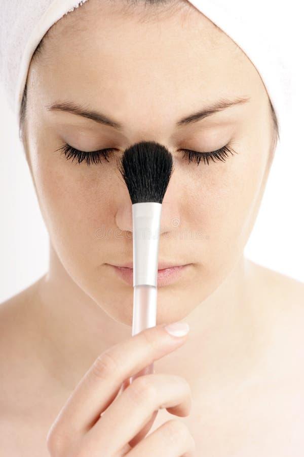 Spazzola cosmetica immagini stock libere da diritti