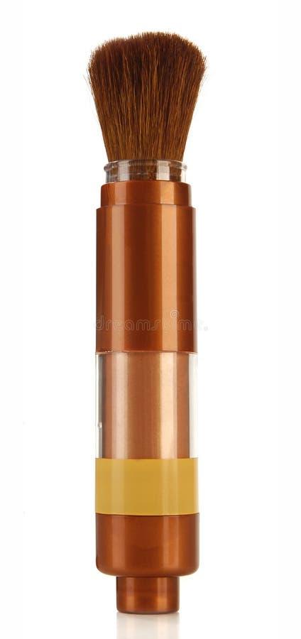 Spazzola cosmetica della polvere immagini stock libere da diritti
