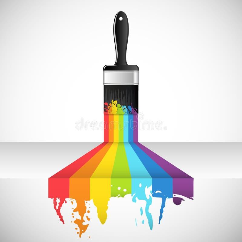 Spazzola del Rainbow illustrazione vettoriale