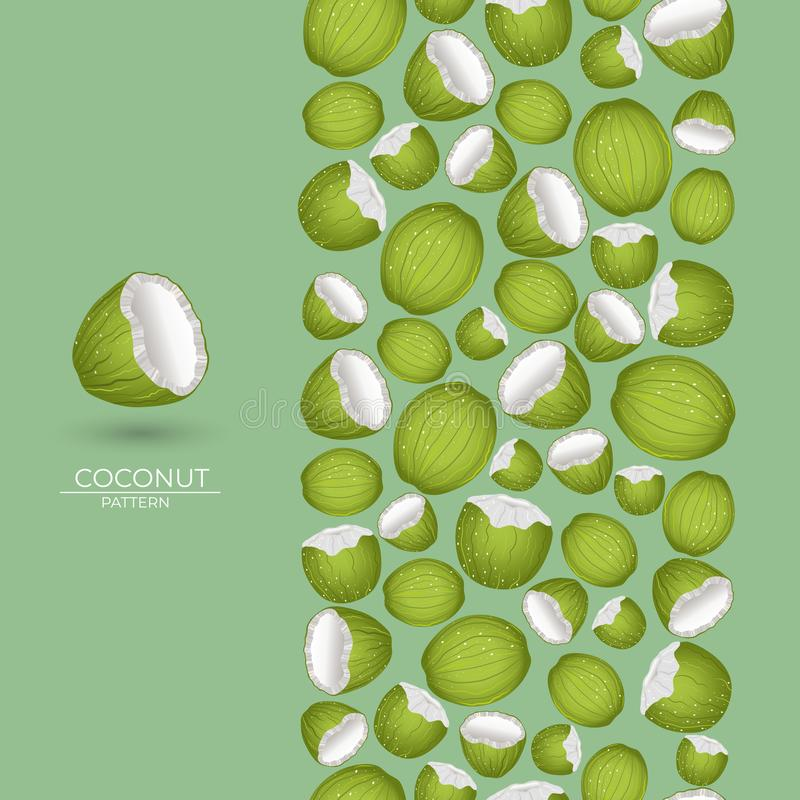Spazzola della noce di cocco senza cuciture royalty illustrazione gratis