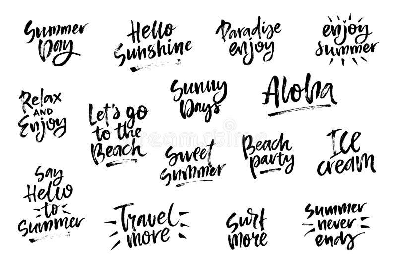 Spazzola di estate che segna composizione con lettere royalty illustrazione gratis