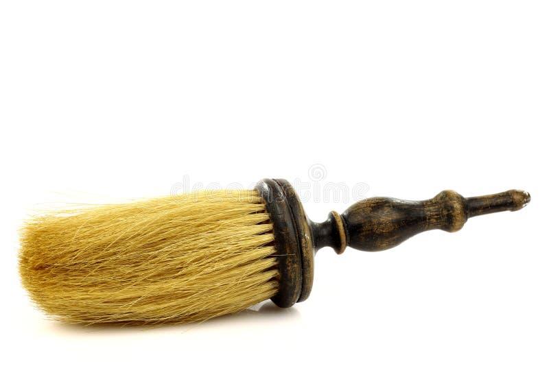 Spazzola di rasatura del barbiere dell'annata immagine stock